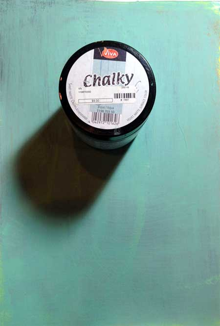 Page painted with two coats of Chalky Vintage-Look by Viva Decor in Aqua