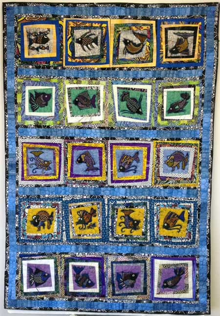 Artistic Artifacts' 2015 Row by Row Experience quilt designed and quilted by Judy Gula