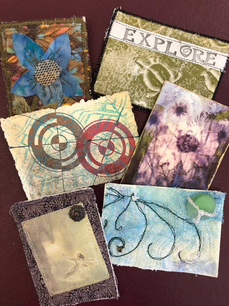 Artist Trading Cards (ATCs) collected by Judy Gula of Artistic Artifacts