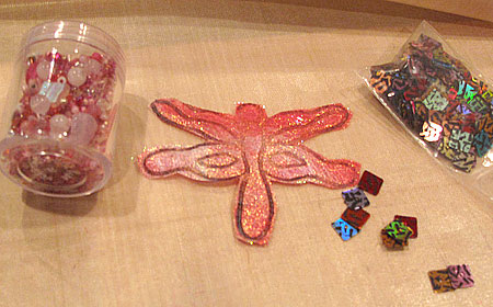 Trimmed Angelina dragonfly ready for embellishment