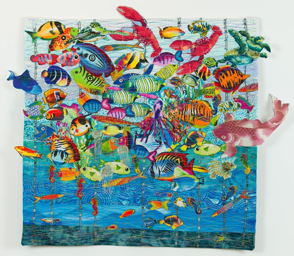 Joni Seidenstein fish quilt