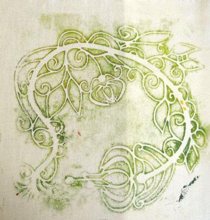 """ghost"" monoprint from a Gelli Arts Gel Printing Plate"