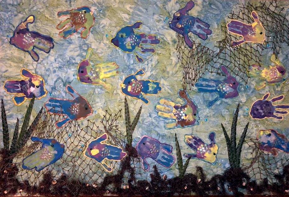Julie Hames Mehigan fish wall hanging