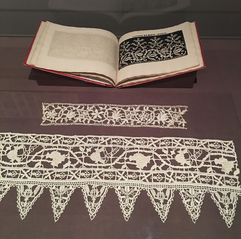 Handmade lace designs from the Cleveland Museum of Art