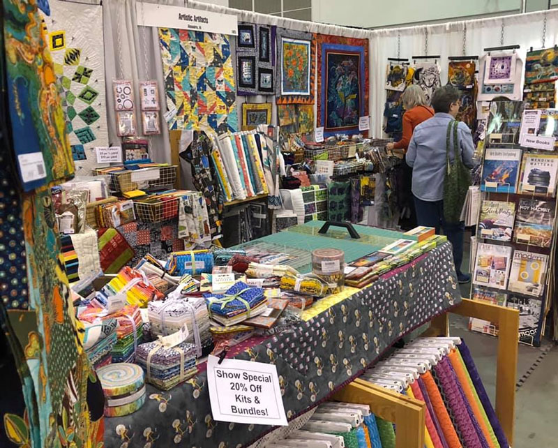 Artistic Artifacts booth at the Mid-Atlantic Quilt Festival 2019