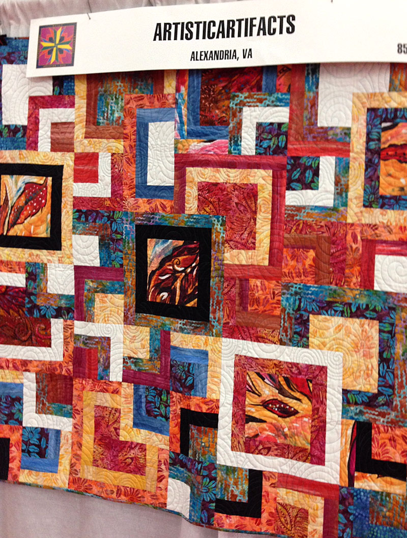 Modern Squares Quilt designed and quilted by Christine Vinh for Arttistic Artifacts/Batik Tambal