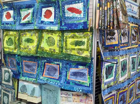 The 2015 Row by Row Experience at Artistic Artifacts, with PG Fiber2Art screens and rows