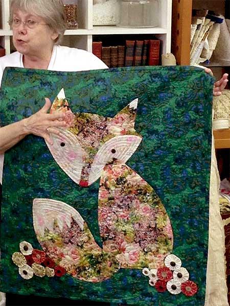 Fox quilt by JAMs member Ann