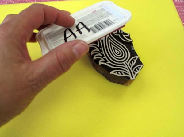 Memento Ink Pads + Wooden Printing Blocks = Fun!   Judy Gula