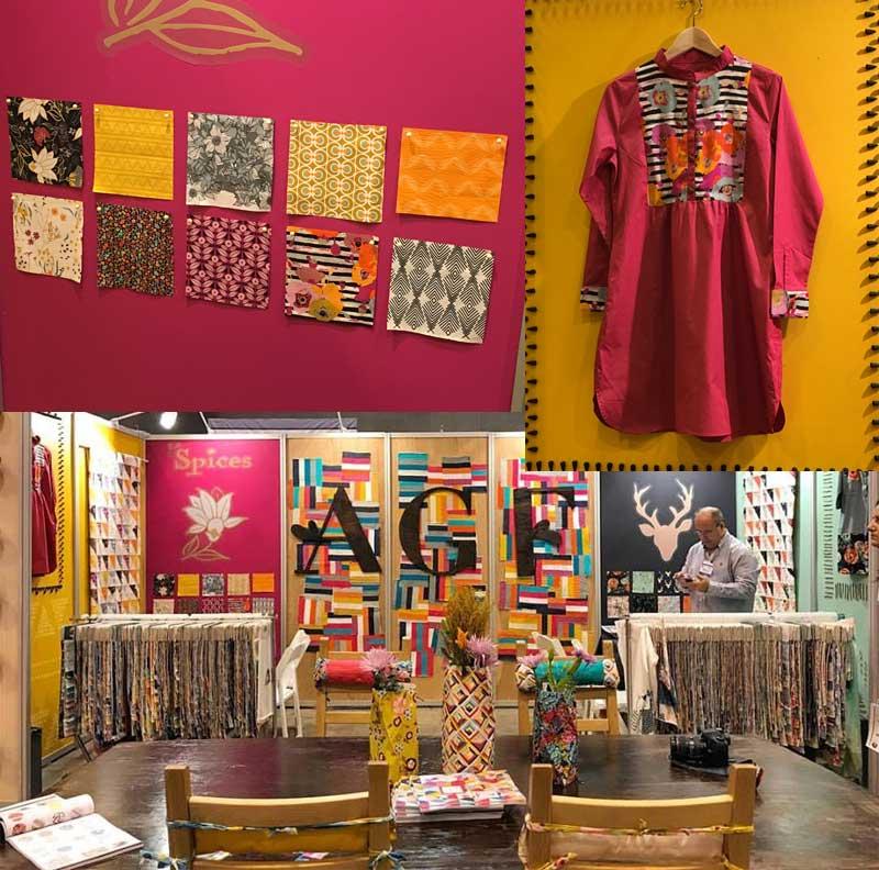 Art Gallery Fabrics booth