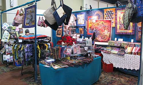 A view of the Artistic Artifacts/Batik Tambal booth