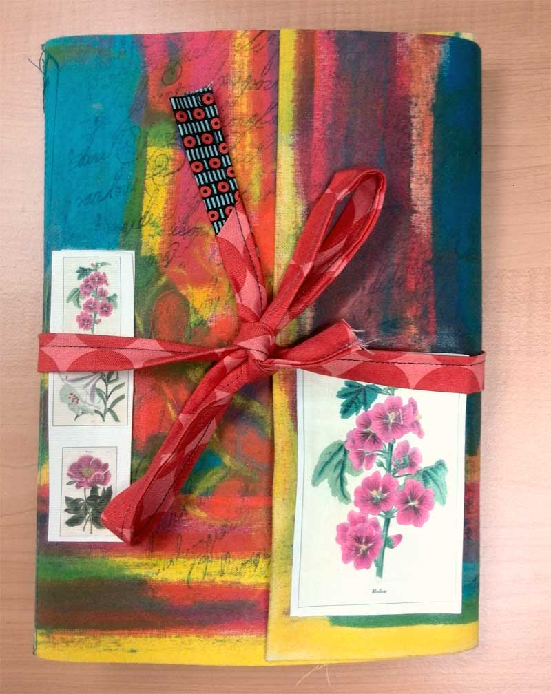 Flower inspired Mixed media art journal by Judy Gula of Artistic Artifacts