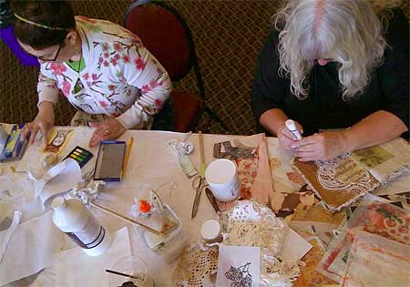 Fabric book class participants at Art & Soul Portland 2014; image courtesy Art & Soul Facebook page