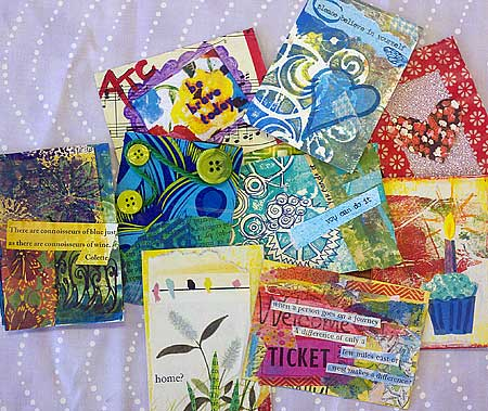 ATCs created at Mindfulness, Compassion & the Arts in Therapy: from Neuroscience to Clinical Practice and the Mid-Atlantic Play Therapy Training Institute