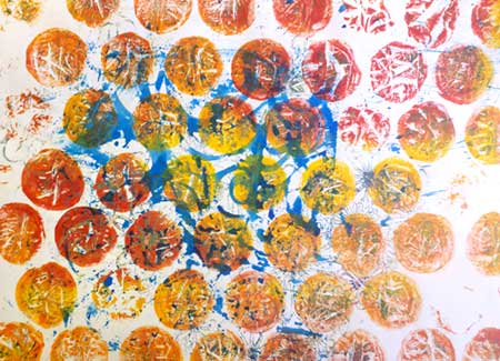 Monoprint created on a Gelli Arts Gel Printing Plate