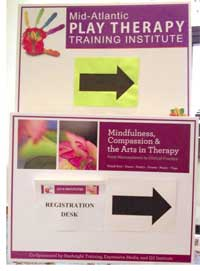 Art therapy conference signs
