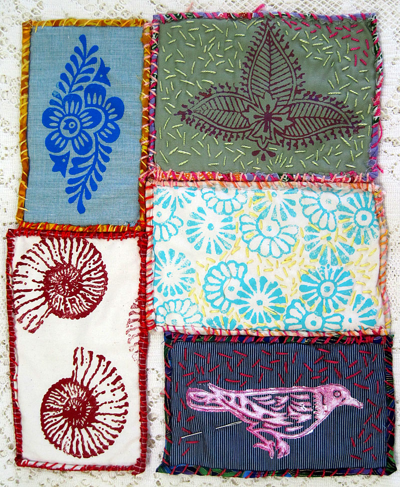 Judy Gula small quiltlets in progress
