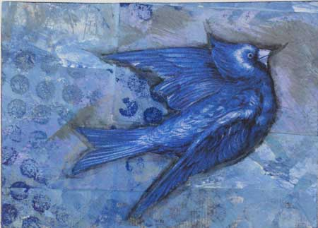 Bluejay ATC by Kathie Lostan
