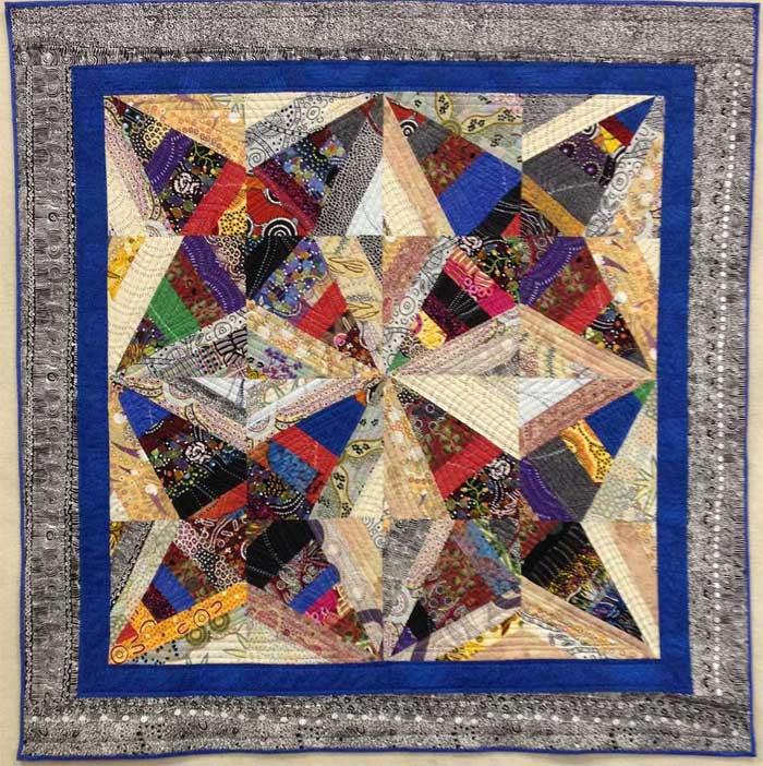 Australian fabric string pieced quilt by Judy Gula
