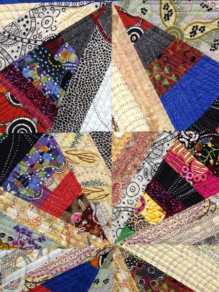 Australian fabric string pieced quilt by Judy Gula