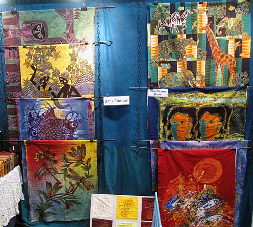 Batik panels in the Artistic Artifacts/Batik Tambal booth