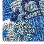 excerpt of one of the master beaded artworks on display in Washington, DC