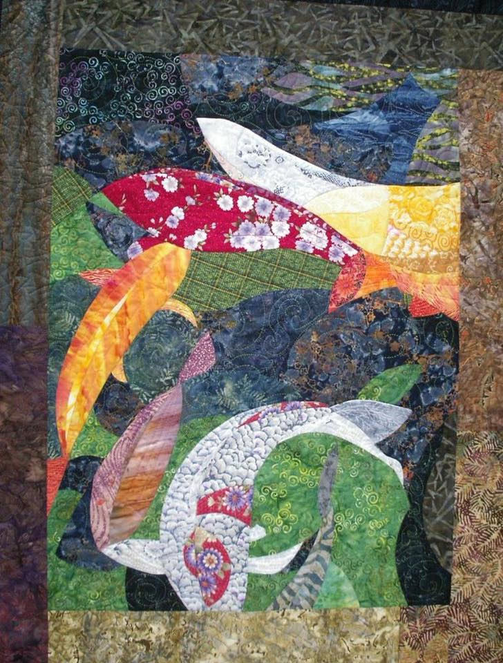 Betsy True fish art quilt