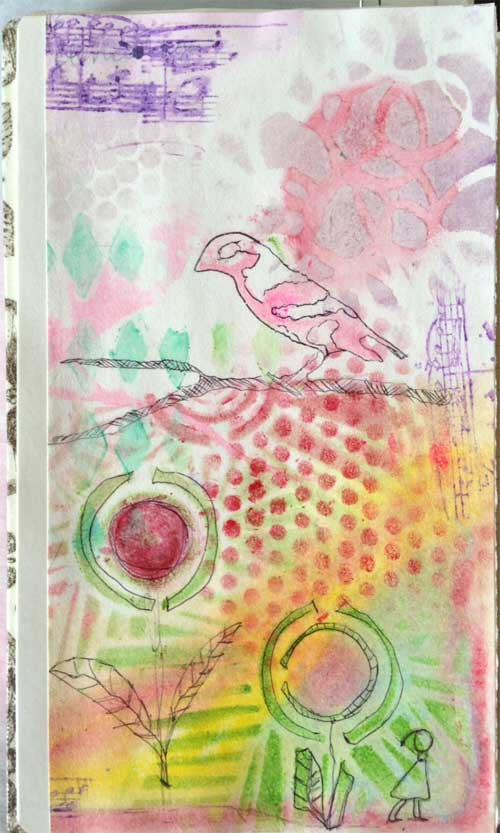 Beverly Hilbert Documented Life Project journal page