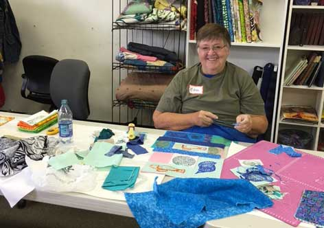 Woodblock Printed Collage Art Quilt class on June 11 at Artistic Artifacts in Alexandria, VA