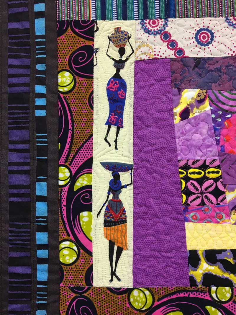 Block detail from Janet Green's quilt Inside Stories