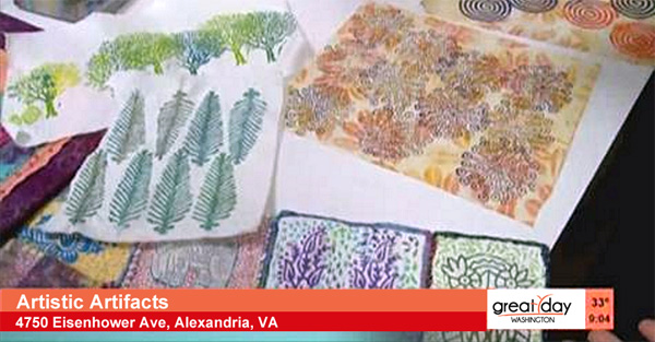 Click to watch block printing and other surface design techniques
