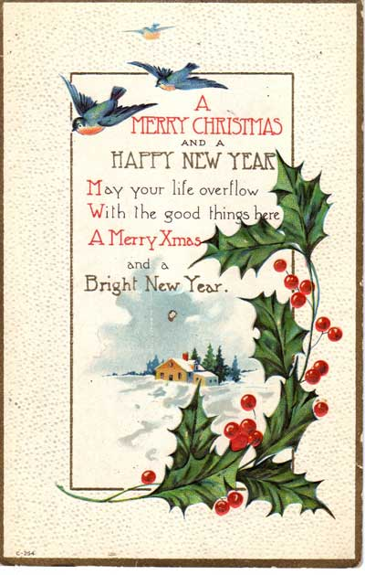 vintage Christmas ephemera from Judy Gula's collection