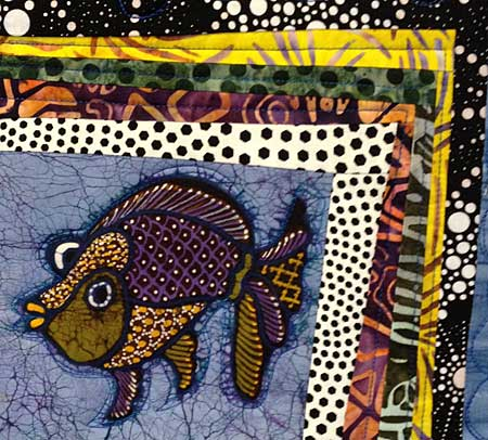 Detail, 2015 Row by Row Experience quilt by Judy Gula