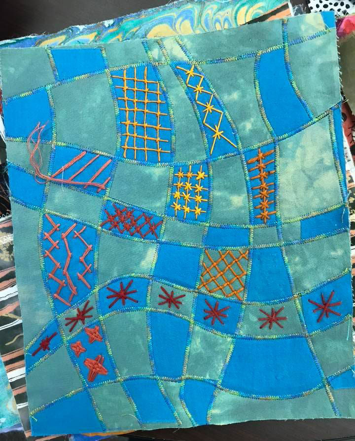 Student work from Judy Gula's Fabric Embellishing class