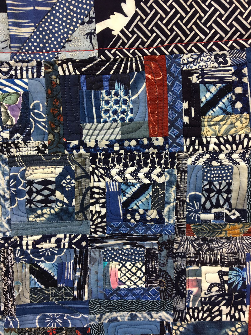 Detail, free motion quilting by Judy Gula of Artistic Artifacts using a BERNINA Q20 longarm