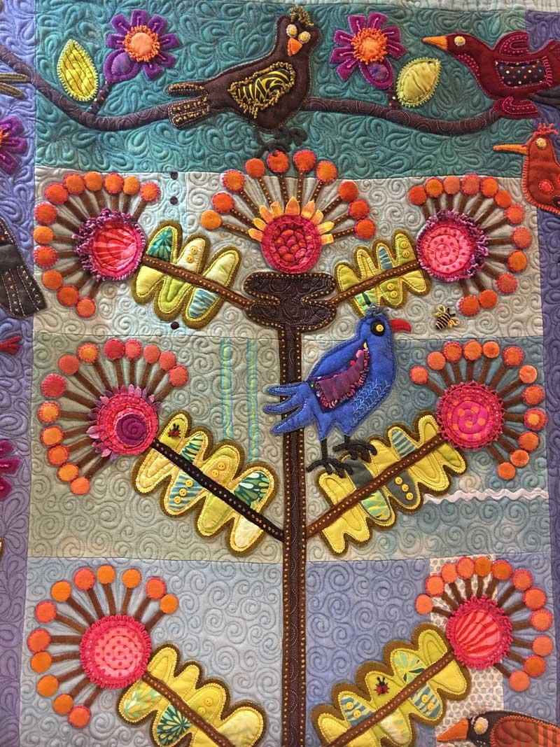 Sue Spargo hand-stitching