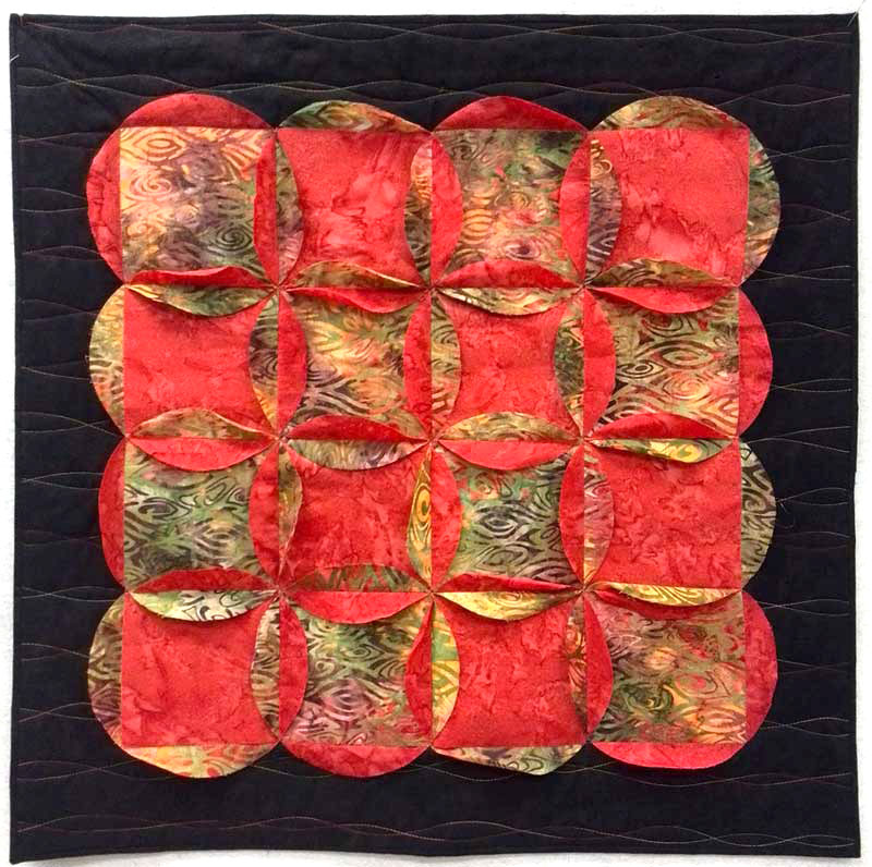 Quilt using multiple 2017 Artistic Artifacts Row by Row Experience row patterns by Chris Vinh
