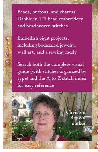 Christen Brown, author of Beaded Embroidery Stitching