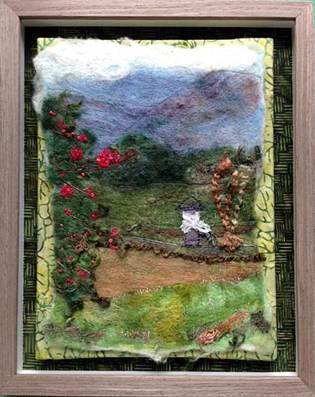 Handfelted stitchwork by Chris Vinh