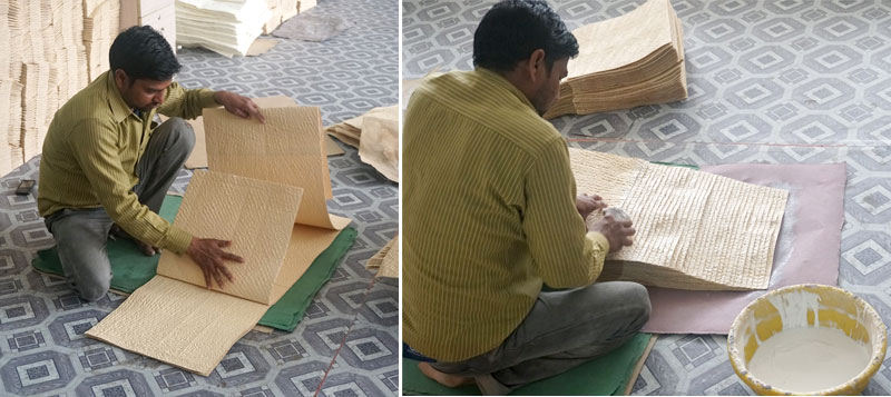 A busy factory worker at  Salim's Paper