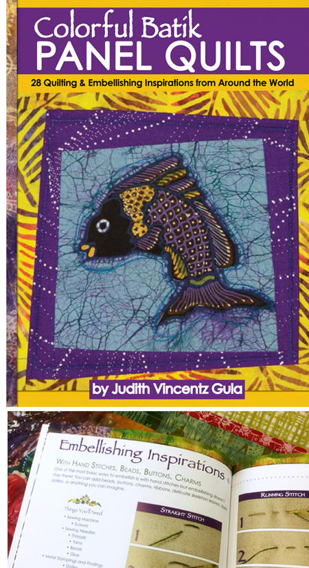 Color Batik Panel Quilts by Judy Vincentz Gula