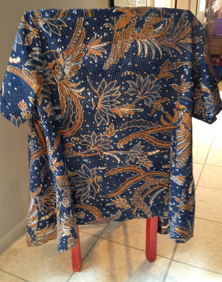 Tulis batik shirt, a treasured garment from Indonesia