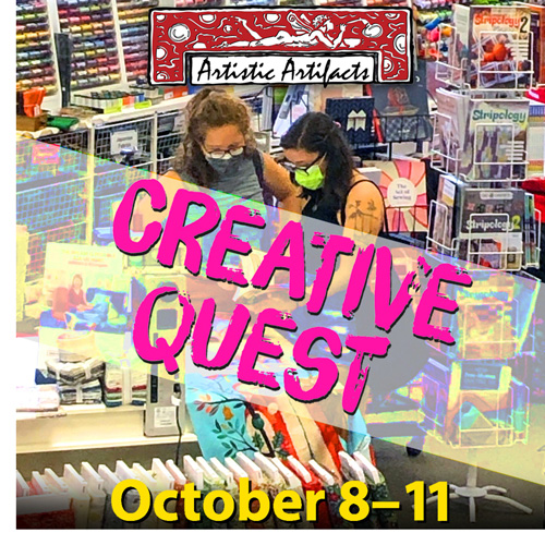 Visit Artistic Artifacts for our Creative Quest!