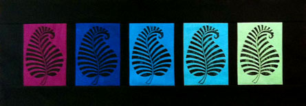 Cyndi Souder's Block Printed leaf quilt