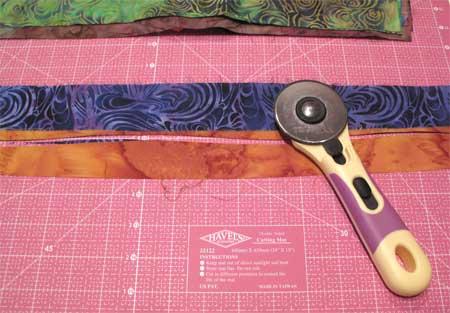 free hand rotary cutting strips