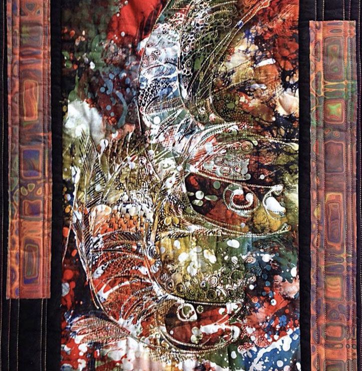 Batik panel quilt by Christine Vinh