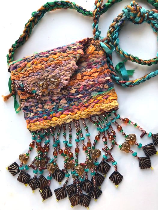 Beaded bag by Chris Vinh