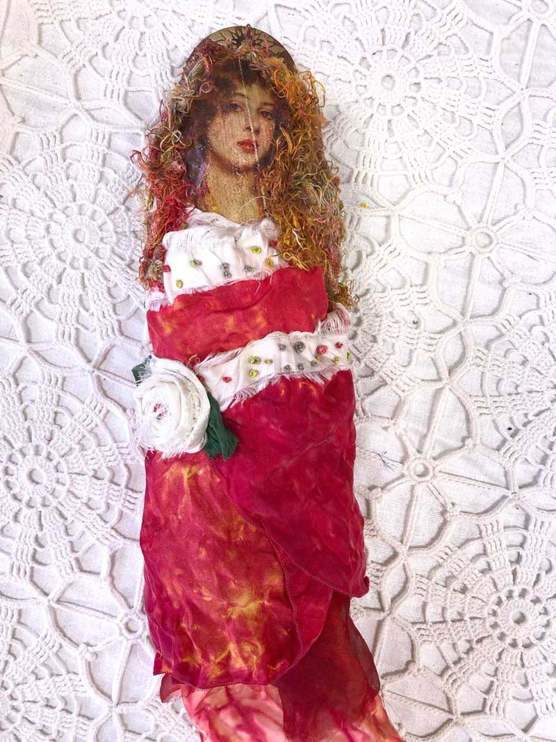 Chris Vinh Fragment Doll, a project from The Ultimate Guide to Transfer Artist Paper by Lesley Riley