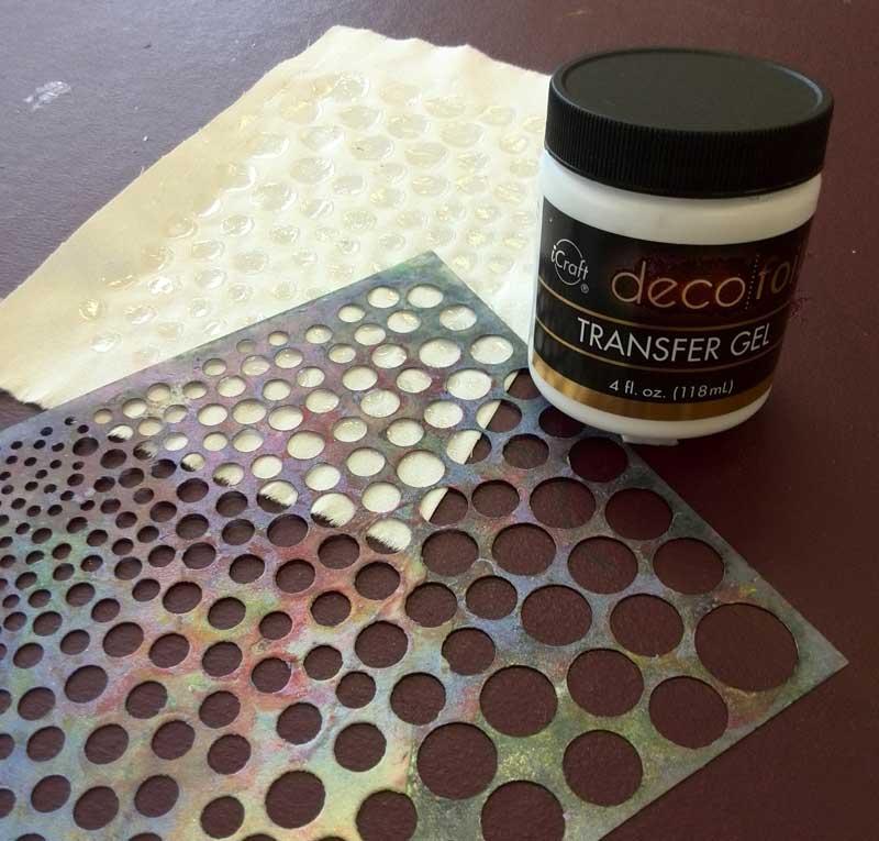 iCraft Deco Foil Transfer Gel applied through a stencil