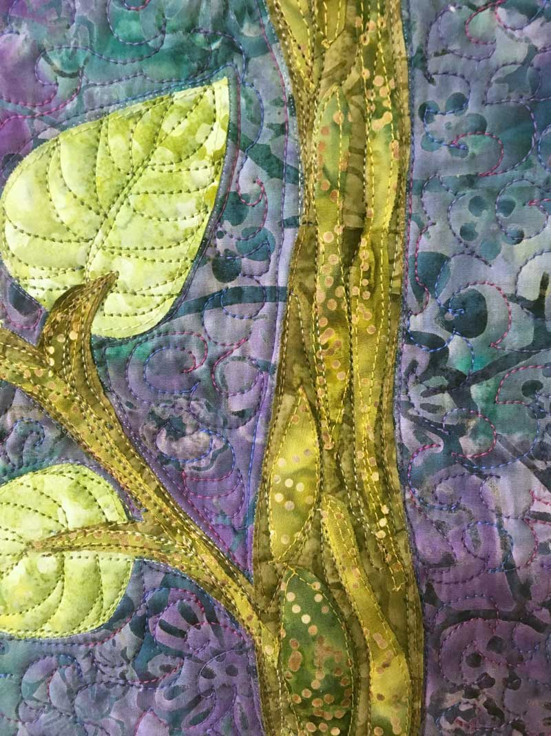 Detail, What Could Have Been, quilt by Elayne Logan Currie